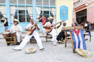 CUBA - FOR NEWS:  Sights of Havana, Cuba, Friday, December 20, 2014.  PICTURED:   Musicians perform on the streets of Old Havana.  (Angel Chevrestt, 646.314.3206)